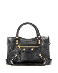 Balenciaga - Black Giant Velo 12 Leather Tote - Lyst