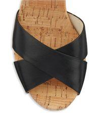 MICHAEL Michael Kors | Black Natalia Platform Sandals | Lyst