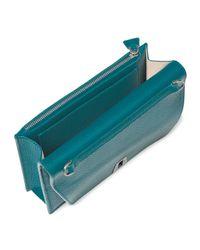 Akris - Blue Anouk Leather Clutch Bag - Lyst