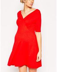 ASOS - Black Tea Dress In Jersey - Lyst