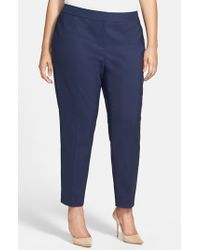 Sejour | Blue Stretch Ankle Pants | Lyst