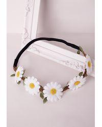 Missguided - Multicolor Daisy Garland Headband - Lyst