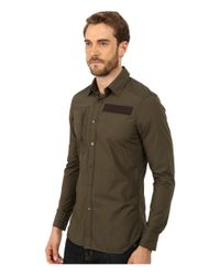 G-Star RAW | Green Powell 3d Long Sleeve Shirt for Men | Lyst