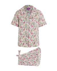 Liberty | Pink Poppy And Honesty Short Cotton Pyjama Set | Lyst
