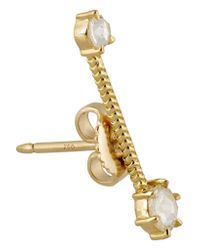 Jemma Wynne | Metallic 18-karat Gold Diamond Earrings | Lyst
