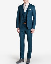 Ted Baker | Blue Wool Suit Trousers for Men | Lyst