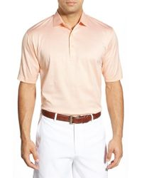 Peter Millar | Pink Rodeo Stripe Cotton Polo Shirt for Men | Lyst