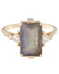 Anna Sheffield | Metallic Yellow Bea Labradorite Ring | Lyst