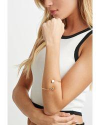 Forever 21 | Metallic Geo Charm Bracelet Cuff | Lyst