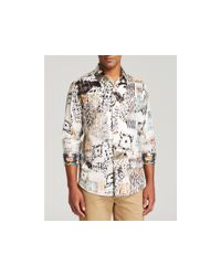 Robert Graham | Natural Grass Skirt Button Down Shirt - Classic Fit for Men | Lyst
