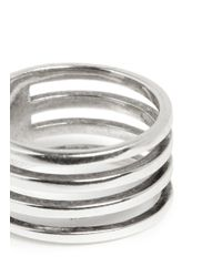 Philippe Audibert | Metallic Tubular Cutout Ring | Lyst