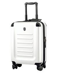 Victorinox White 'spectra 2.0' Global Hard Sided Rolling Carry-on for men