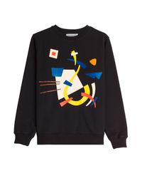 J.W.Anderson - Printed Sweatshirt - Black - Lyst