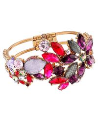 Betsey Johnson | Multicolor Fall Follies Flower Hinge Bangle | Lyst