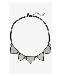 Express | Metallic Short Glitter Points Necklace | Lyst