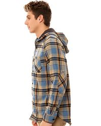 Vans | Blue The Loose Screw Iv Hooded Buttondown Shirt for Men | Lyst