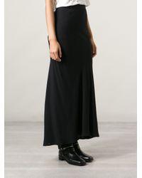 Ann Demeulemeester   Black Layered Midi Skirt   Lyst