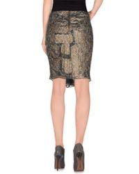 Isabel Marant - Brown Knee Length Skirt - Lyst