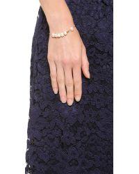 Ginette NY - Metallic Cultured Freshwater Pearl & Tube Bracelet - Lyst