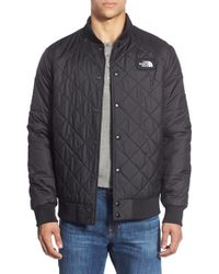 The North Face | Black 'jester' Reversible Snap Front Jacket for Men | Lyst