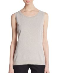 Lafayette 148 New York | Gray Virgin Wool & Cashmere Tank Top | Lyst