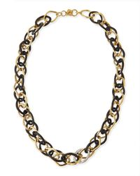 Ashley Pittman | Metallic Kamba Necklace Dark Horn | Lyst