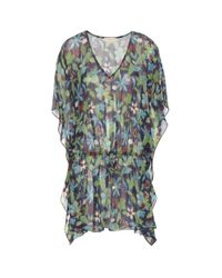 Tory Burch - Multicolor Floral Printed Silk Tunic - Lyst