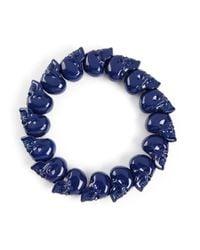 Alexander McQueen | Blue Skull Bead Bracelet for Men | Lyst