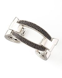 John Hardy | Metallic Black Sapphire Classic Chain Link Cuff for Men | Lyst