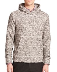 Vince - Gray Marled Hoodie for Men - Lyst