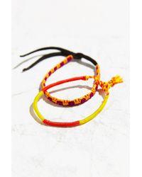 Urban Outfitters | Orange Friendship Bracelet Set | Lyst