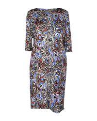 Balenciaga | Gray Short Dress | Lyst