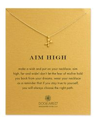 Dogeared | Metallic Aim High 14k Gold Pendant Necklace | Lyst