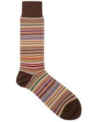 Paul Smith - Brown Multi Stripe Cotton Socks for Men - Lyst