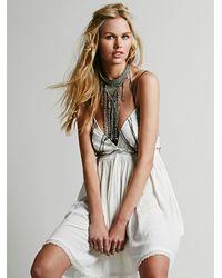 Free People - White Womens Sunray Dress - Lyst