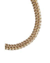 BCBGMAXAZRIA - Brown Woven Box-chain Necklace - Lyst