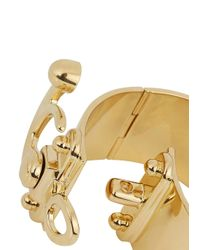 Eddie Borgo - Metallic Latched Gold Plated Cuff - Lyst