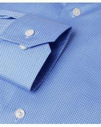 Eton of Sweden | Blue Slim Fit Dot Shirt for Men | Lyst