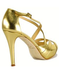 kate spade new york - Metallic Get - Platform Strappy Sandal - Lyst