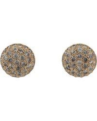 Roberto Marroni - Natural Women's Grey Diamond Baby Sand Stud Earrings - Lyst
