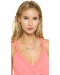 Ben-Amun - Metallic Crystal Station Necklace - Clear - Lyst