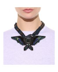 Lanvin | Black Crystalembellished Chainlink Necklace | Lyst