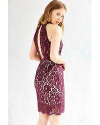Keepsake - Purple One Night Lace Dress - Lyst