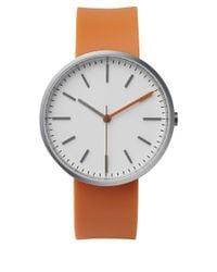 Uniform Wares - Orange Brushed Steel 104 Series Wristwatch - Lyst