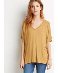 Forever 21 | Orange Contemporary V-neck Dolman Top | Lyst