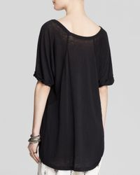 Free People | Black Tri Blend Free Falling Tee | Lyst
