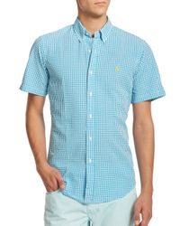Polo Ralph Lauren | Blue Checked Seersucker Sportshirt for Men | Lyst