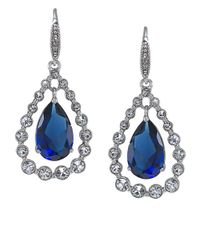 Carolee | Blue Uptown Recolor Sapphire Drop Earrings | Lyst