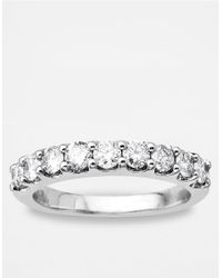 Lord & Taylor | Metallic 14 Kt. White Gold Diamond Band | Lyst