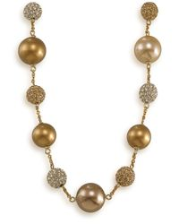 Carolee | Metallic Glass Pearl And Fireball Illusion | Lyst